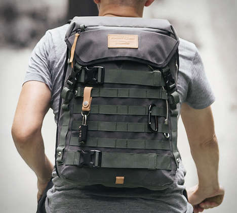 Multipurpose Motorcyclist Packs - The Angry Lane Rider Daypack Backpack Has Pacsafe Technology