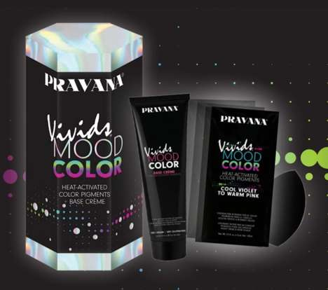 Heat-Activated Hair Colors - Pravana's Vivids Mood Color Transforms When Exposed to High Heat