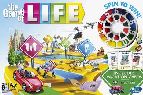 Vacation-Edition Board Games - The Game of Life Now Features Vacation Cards Inspired by TripAdvisor