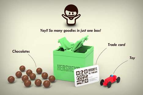 Building Block Chocolate Packaging - The Hershey's Magic Box Conceptually Contains Multiple Treats