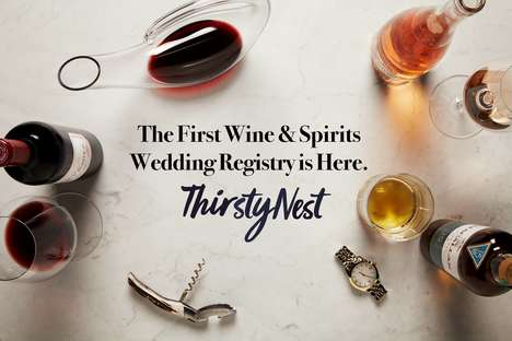 Wine-Centric Wedding Registries - ThirstyNest Lets Couples Register for Bottles and Barware