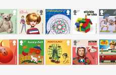 Retro Toy-Themed Stamps