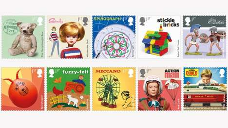 Retro Toy-Themed Stamps - These Special-Edition Royal Mail Stamps Celebrate Vintage Playthings