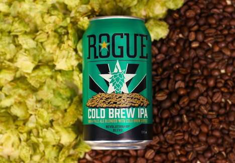 Cold Brew Beers - Rogue's Cold Brew IPA is Brewed for 12 Hours and Double Filtered