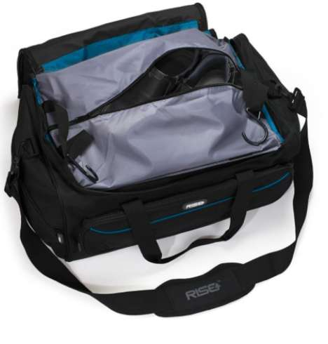 Shelving-Incorporated Luggage - The Weekender Duffel Bag Contains Extendable Built-In Shelving