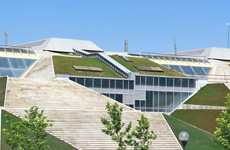 Massive Green-Roofed Bookstores