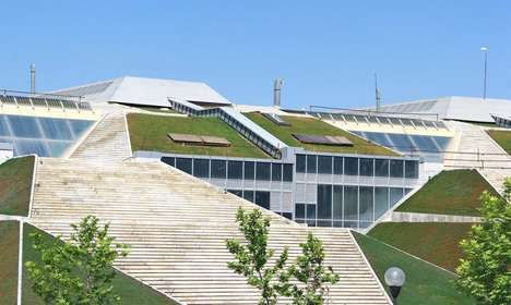 Massive Green-Roofed Bookstores - The 'Book Garden' is the Largest Bookstore in the World