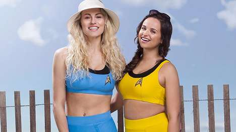 Sci-Fi Swimwear Lines - The Star Trek Trekini Swimwear Line Boasts Retro-Inspired Bathing Suits
