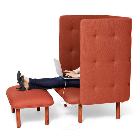 This Lounge Chair Offers Privacy in an Open-Concept Design