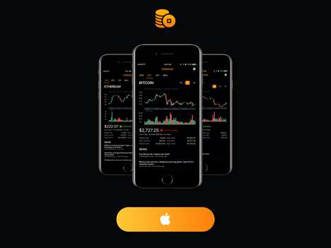 Cryptocurrency-Monitoring Apps - 'CoinHub' Offers Cryptocurrency Quotes to Quickly Identify Trends