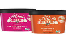 Cold Weather Ice Creams - These Alden's Organic Seasonal Ice Creams are Fall and Winter-Themed