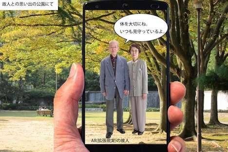 Augmented Reality Gravesites - Virtual Graves Offer a Cost-Effective Alternative to Funerals