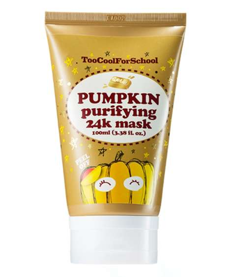 Golden Pumpkin Face Masks