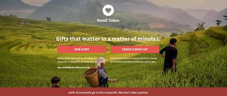 Social Good Gift Registries - 'Small Token' Encourages Event Attendees to Contribute to a Good Cause