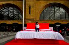 Trampoline Bed Installations - Virgin Media Promoted Its Virgin TV Kids App with a Jumping Apparatus