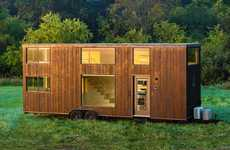 Luxurious Portable Homes - The Escape ONE XL House on Wheels Features a Stylish Interior