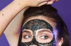 Glittery Face Treatments - This GlamGlow Face Mask Takes the Form of a Peel-Off Glitter Treatment