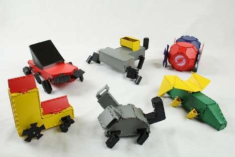 3D-Printed Robot Toys - Interactive Robogami from CSAIL Lets Users Mix and Match Components