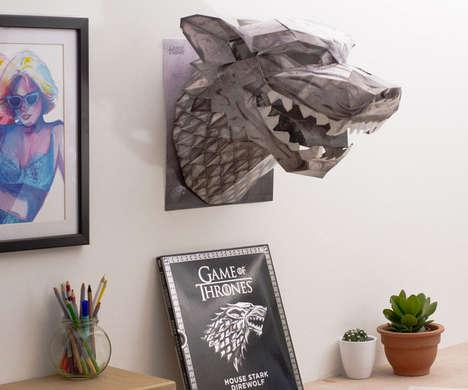 Foldable 3D Fantasy Masks