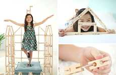 Non-Linear Building Blocks - The Bokah Blocks Wooden Construction Toys Expand Creative Boundaries
