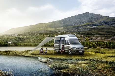 Conceptually Chic Camper Vans - The Volkswagen California XXL Camper Offers Ample Amenities