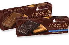 Combinational Cookie Desserts - The Original Gourmet Chocolate Fusion Cookies Come in Two Flavors