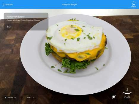 Augmented Reality Menus - 'Kabaq' Offers 3D Renderings of Restaurant Menu Items