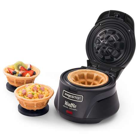 The Presto Belgian Bowl Waffle Maker Crafts Perfect Edible Dishes