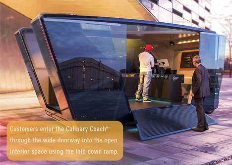 Autonomous Fast Food Trucks - The 'Culinary Coach' Food Truck Concept is Designed for Quick Service