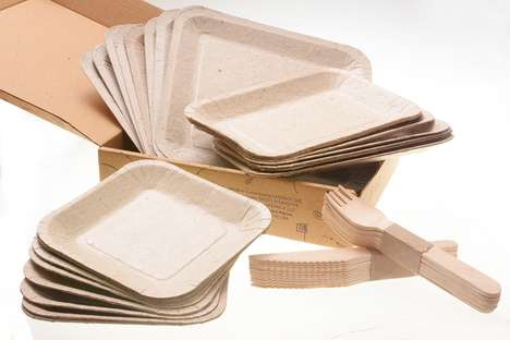Biodegradable Seed-Ingrained Plates - Papelyco by Lifepack Offers Unique Disposable Plates