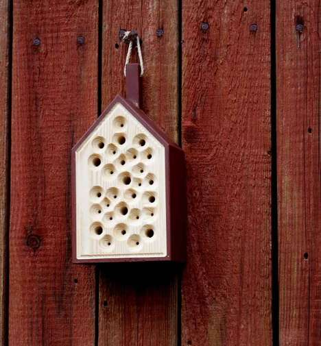 Urban Beekeeper Accessories - The 'BiBo Hotel' Wooden Beehives Offer a Spot for Bees to Rest