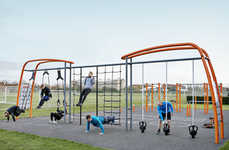 Adult Fitness Jungle Gyms - The Kompan Functional Training Systems Enable Better Outdoor Exercises