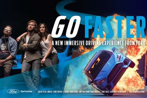 Personalized Stunt Driving Films - Ford's 'Go Faster' Puts Fans in a Stunt Driving Trailer