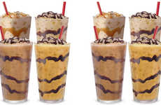 Caffeinated Shake Desserts - The Sonic Iced Coffee Twists Merge Coffee with Dessert