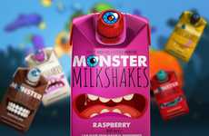Monstrous Milkshake Cartons - Monster Milkshakes Boasts Five Lively Flavors and Expressive Packaging