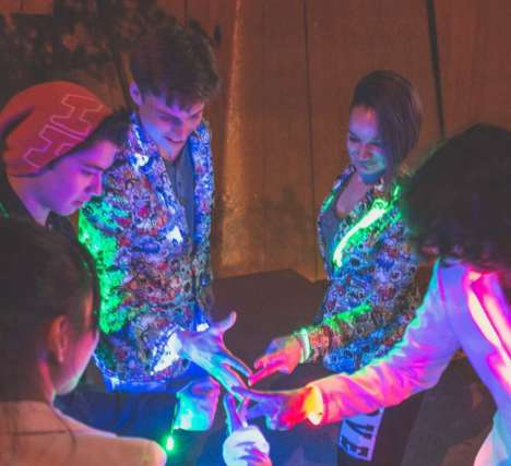 App-Enabled LED Jackets - 'LitJackets' from LumoSquid Can Change Color in Tandem with Music