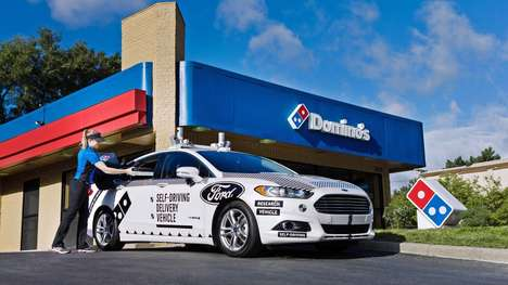 Autonomous Pizza Delivery Vehicles - Ford and Domino's are Deploying Self-Driving Delivery Cars