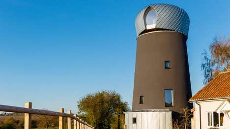 Recovered Windmill Homes - Beech Architects Turned a Derelict Windmill Into a Guest House