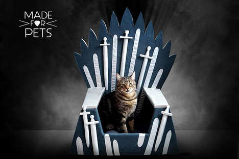The MadeForPets Game of Thrones Cat Furniture Bed is Handmade