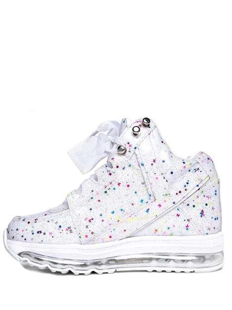 Confetti-Adorned Sneakers