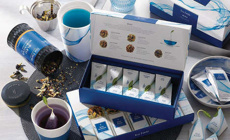 Immunity-Boosting Blue Teas - The Tea Forte BLEU Line is Made with Butterfly Pea Flowers
