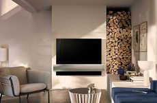 Co-Branded Luxury Televisions - LG and Bang & Olufsen Have Partnered on the BeoVision Eclipse