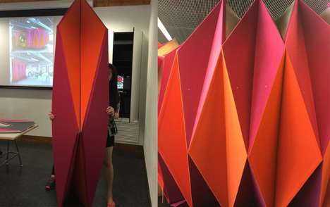 Origami-Like Meeting Pavilions - The PleatPod Serves as an Eye-Catching Solution to Noisy Offices