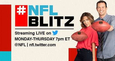 Social Media Sports Shows - #NFLBlitz is a Football Talk Show Airing Exclusively on Twitter