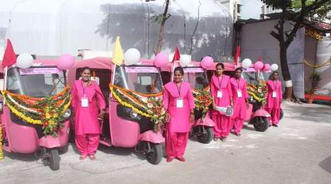 Women-Only Taxi Services - India's Pink Auto Service is Offering a Safer Means of Transportation