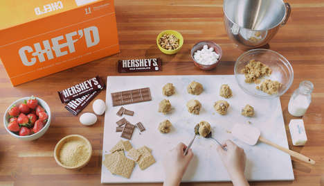 Chocolate Dessert Kits - Chef'd is Producing Dessert Meal Kits with The Hershey Company