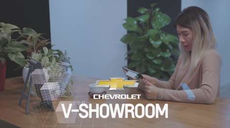 Mixed-Reality Car Showrooms - The 'Chevrolet V-Showroom' App Virtually Presents the Chevy Cruze