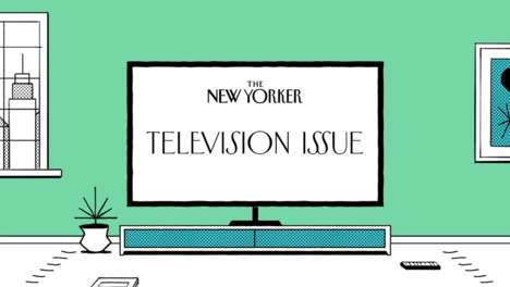 TV-Themed Magazine Trailers - The New Yorker Television Issue is Being Promoted with Its Own Trailer