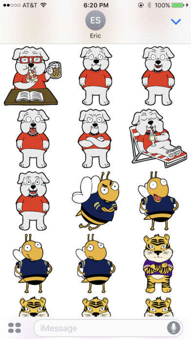 College Football Stickers - Rivalry Stickers Turn College Mascots Into Cute Graphics for Text Chats