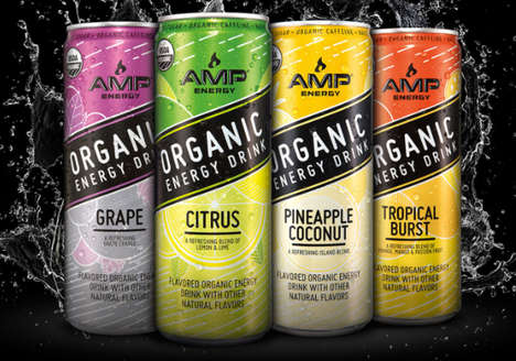 Organic Energy Drinks - PepsiCo's Expanded Amp Energy Range Introduces Better-for-You Options